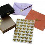 Royal Vert Doré Cœur métallique Autocollant enveloppe joints–Or Code couleur étiquettes adhésif permanent–Lot de 200 de la marque Royal Green image 2 produit