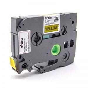 Ruban Cassette Cartouche 12mm vhbw Jaune pour Brother P-Touch 1180HK, 1190, 1200, 1200S, 1230PC, 1250, 1250CC comme TZ-FX631, TZE-FX631 de la marque vhbw image 0 produit