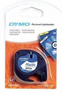 Ruban Dymo pour Etiqueteuses LetraTag, Plastique, 12mm x 4m, Noir sur Fond Blanc de la marque DYMO image 0 produit