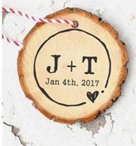 rustique–encreur de mariage personnalisé Save the Date Tampon–41mm Circ de la marque rustic C43 image 0 produit