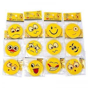 S/o pack de 24 gomme de radier caoutchouc 12 motifs smiley gomme tombola scolaires en caoutchouc (pour les goûters d'anniversaire 0440) de la marque Schramm Onlinehandel image 0 produit