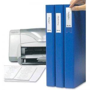 Sachet 48 étiquettes blanches en planche A4 pour imprimante + porte-étiquettes adhésifs 25x75mm 3L de la marque 3L image 0 produit