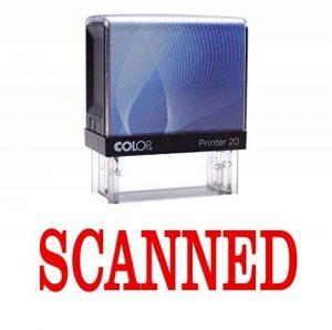 SCANNED Auto-encrage Tampon encre rouge Stationery Office personnalisé Colop Timbres de la marque Printtoo image 0 produit