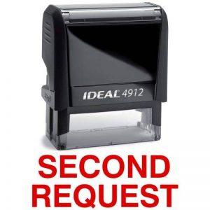 seconde demande Rouge Stock auto-encreur Tampon en caoutchouc de la marque DiscountRubberStamps image 0 produit