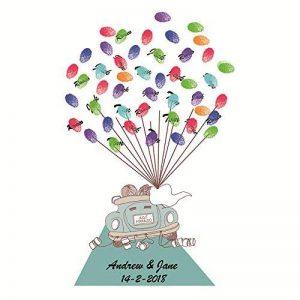 Shi18sport DIYFingerprint, idéal pour Les Anniversaires, Les fêtes de Jour comme pour Les Anniversaires créatives et Les Amateurs de Clients. 50x70cm de la marque Shi18sport image 0 produit