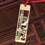 Shineus Lot de 4marque-pages avec règle et gabarit de dessin, en acier inoxydable, idéal pour faire vos propres albums photo et scrapbooks doré de la marque Shineus image 3 produit