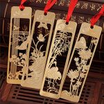 Shineus Lot de 4marque-pages avec règle et gabarit de dessin, en acier inoxydable, idéal pour faire vos propres albums photo et scrapbooks doré de la marque Shineus image 1 produit