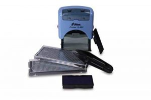 Shiny S de 883 texte personnalisable sur Tampon Auto-encreur Bleu, Jusqu'à 4 lignes de texte de la marque Kopierladen image 0 produit