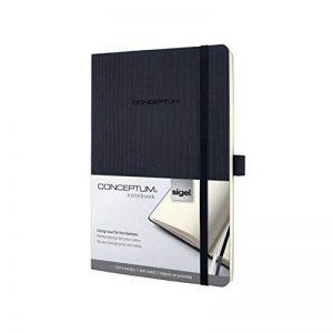 Sigel CO309 Carnet de notes CONCEPTUM, 13,5 x 21 cm, pointillé, couverture souple, noir de la marque Sigel image 0 produit