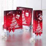 Sigel GT022 Lot de 5 sacs cadeaux Noël, 33 x 26 cm, rouge et blanc de la marque Sigel image 3 produit