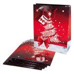 Sigel GT022 Lot de 5 sacs cadeaux Noël, 33 x 26 cm, rouge et blanc de la marque Sigel image 4 produit