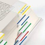 """Sigel HN202 Marque-pages rigides""""Tab Marker"""" en film transparent, 20 feuilles de 3,8 x 5 cm, 4 couleurs de la marque Sigel image 3 produit"""