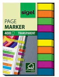 Sigel HN617 Marque-pages ou surligneurs de texte en film transparent, 400 feuilles de 5 x 0,6 cm, 5 couleurs de la marque Sigel image 0 produit