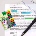 Sigel HN617 Marque-pages ou surligneurs de texte en film transparent, 400 feuilles de 5 x 0,6 cm, 5 couleurs de la marque Sigel image 3 produit