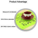 Silicone Alimentaire fausses Sets de table pour les tout-petits/bébés/enfants/enfants–100% sans BPA et Approuvé par la FDA–Ludique et éducatif Sets de table–30,5x 40,6cm, Vert en Jamhoo de la marque JamHoo image 2 produit