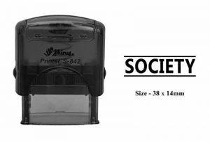 Société Plastique Stamp Impression Claire pour utilisation de bureau brillant S-842Tampon Auto-encreur 38 x 14 MM Encre noire de la marque PrintValue image 0 produit