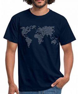Spreadshirt Le Monde En Code Binaire T-shirt Homme de la marque Spreadshirt image 0 produit