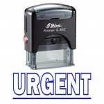 Stamp URGENT Self Inking Rubber Stationary Office personnalisé Shiny Stamp de la marque Shiny&Shiny image 1 produit