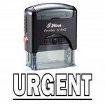 Stamp URGENT Self Inking Rubber Stationary Office personnalisé Shiny Stamp de la marque Shiny&Shiny image 2 produit
