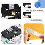 Startup 5 Pack Ruban d'étiquette pour Brother P-touch TZe-231 TZe231 Cassette laminée, noir sur blanc 12mm (0,47 inch) x 8m (26,2 ft) de la marque startup image 2 produit