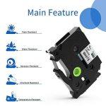 Startup 5 Pack Ruban d'étiquette pour Brother P-touch TZe-231 TZe231 Cassette laminée, noir sur blanc 12mm (0,47 inch) x 8m (26,2 ft) de la marque startup image 3 produit