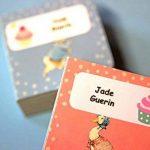 Stickers Personnalisés Prénom Et Nom | Autocollants Personnalisés Étanches Motif Monstres (40) de la marque Étiquette autocollante super fun image 1 produit