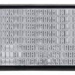 Stieber Tampon encreur à composer soi-même avec 4 lignes de texte et 2 tailles de police 18 x 47 mm de la marque Stieber image 4 produit