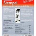 Stieber Tampon encreur à composer soi-même avec 4 lignes de texte et 2 tailles de police 18 x 47 mm de la marque Stieber image 1 produit