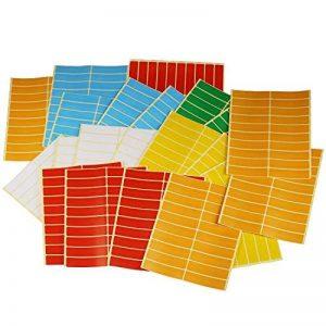 Swebgo rectangles autocollants Petit marquage/étiquettes 8cm x 1.9cm, 6couleurs différentes de la marque LJY image 0 produit