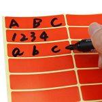 Swebgo rectangles autocollants Petit marquage/étiquettes 8cm x 1.9cm, 6couleurs différentes de la marque LJY image 3 produit