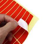 Swebgo rectangles autocollants Petit marquage/étiquettes 8cm x 1.9cm, 6couleurs différentes de la marque LJY image 4 produit