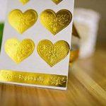 T-shin 60pcs en forme de cœur à imprimer enveloppes Stickers rétro métallique Thank You papier kraft carte Stickers DIY décoratif adhésif autocollant Label pour emballage cadeau fête de mariage Bake Décoration de la marque T-shin image 3 produit