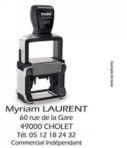 Tampon auto-encreur avec votre texte personnalisé - 41x24 mm - 5 lignes - TRODAT 5200 de la marque Trodat image 0 produit