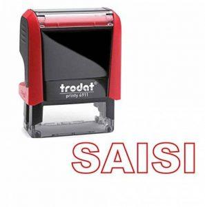 Tampon auto encreur - SAISI - TRODAT Printy 4911 encré rouge dernière génération de la marque Trodat image 0 produit