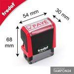 Tampon encreur PAYÉ - Cachet PAYÉ formule commerciale Trodat 4911 - Boitier rouge encre rouge - Timbre PAYÉ 37x11mm - TAMPON24 de la marque Tampon24 image 2 produit