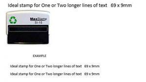 Tampon encreur personnalisé–Convient pour 1ou 2lignes de texte 69x 9mm de la marque Athena image 0 produit