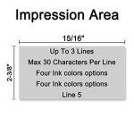 tampon encreur personnalisé 5 lignes TOP 12 image 2 produit