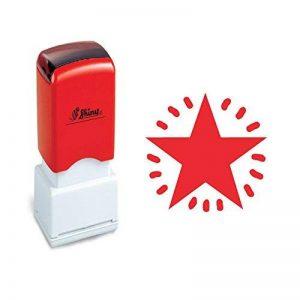 Tampon fidélité - ETOILE - cachet encreur pour cartes de fidélité. Encre Rouge. Re-encreable de la marque Shiny&Shiny image 0 produit