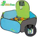 Tente de jeu pour enfants | Incl. 200 balles multicolores | léger à transporter | Idéal pour l´intérieur et l´extérieur | Incl. pratique étui pour le garder / transporter | Maison de Jardin de la marque LittleTom image 1 produit