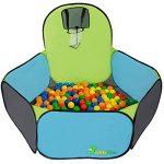 Tente de jeu pour enfants | Incl. 200 balles multicolores | léger à transporter | Idéal pour l´intérieur et l´extérieur | Incl. pratique étui pour le garder / transporter | Maison de Jardin de la marque LittleTom image 3 produit