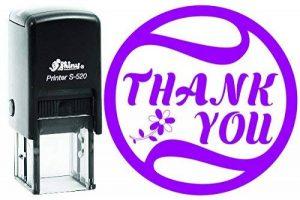 Thank You brillant 20mm rond auto-encreur Tampon en caoutchouc enfants professeur Tampon 20 MM Violet de la marque YogiStamps image 0 produit