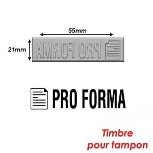 Timbre caoutchouc pour tampon encreur 55x21mm Pro forma de la marque Générique image 0 produit