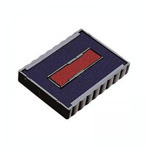 Timbres par SPC//Idéal/Trodat 4750sertie de remplacement Pad//Parfait pour tous les Idéal/Trodat 4750Tampons auto-encreurs sertie.–étendre Tampon Vie ou Changement de couleur de l'encre:. Blue Text - Red Date de la marque Stamps By SPC image 0 produit