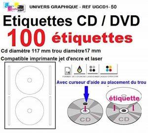 étiquette autocollante pour cd TOP 10 image 0 produit