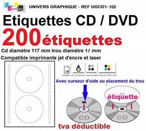 étiquette autocollante pour cd TOP 9 image 0 produit