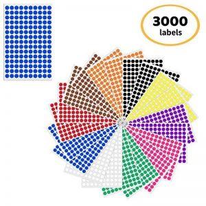 étiquette couleur autocollante TOP 7 image 0 produit