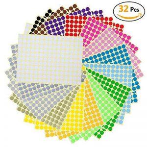 étiquette couleur autocollante TOP 8 image 0 produit
