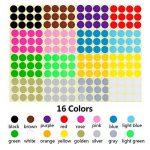 étiquette couleur autocollante TOP 8 image 1 produit