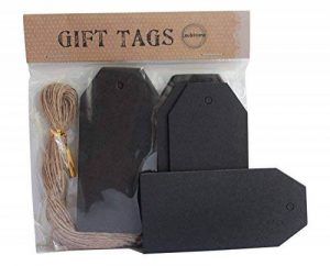 Étiquette noire de magasin de produit de bagage d'étiquette de Hang avec des chaînes, 4.5X9.5 (100) de la marque Lau and Home image 0 produit
