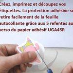 étiquette transparente à imprimer TOP 8 image 1 produit